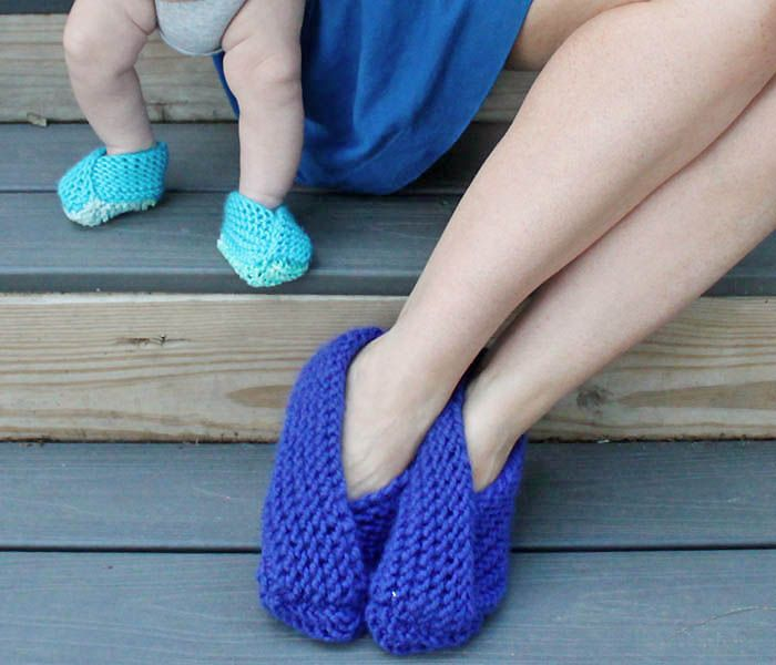 Gina Michele Easy Foldover Slippers Knitting Pattern Fashion To