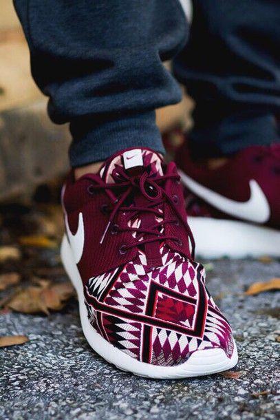 promo code 5cd9b 24996 shoes women's nike roshe run nike running shoes burgundy ...