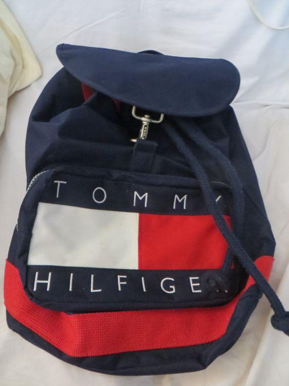 vintage tommy hilfiger duffle bag backpack by. Black Bedroom Furniture Sets. Home Design Ideas